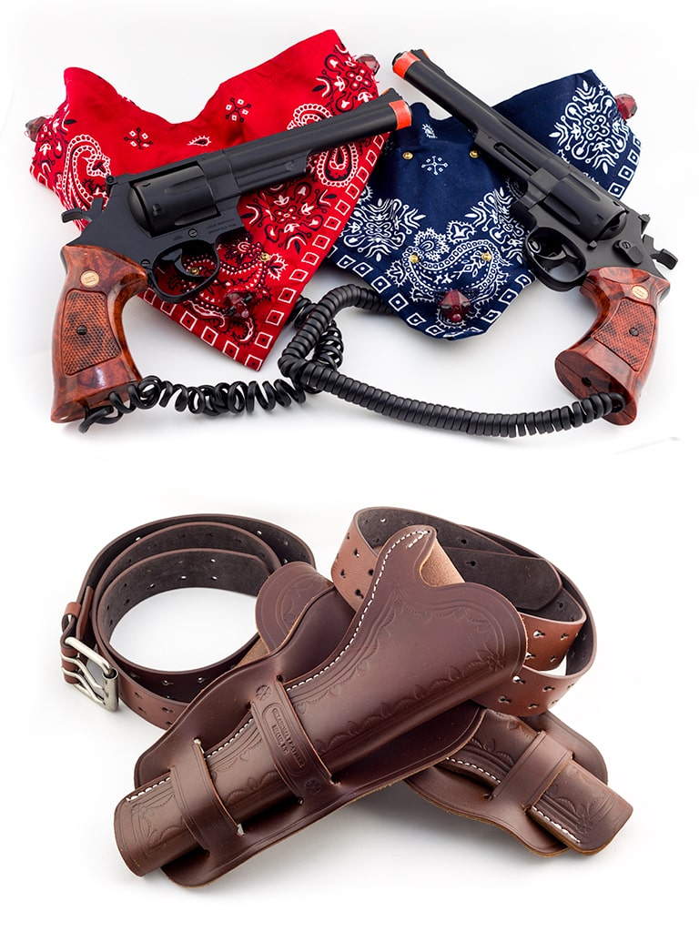 Wild west laser tag with holsters