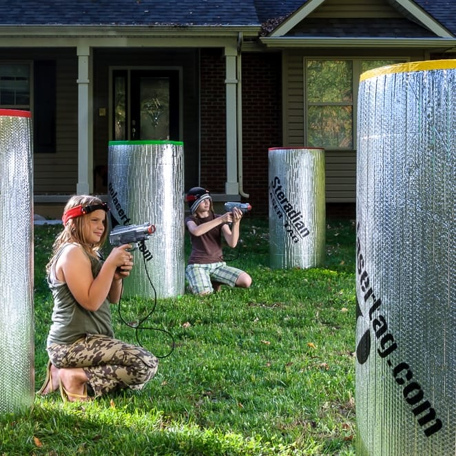 Backyard laser+ tag